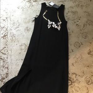 Black maxi dress, new.